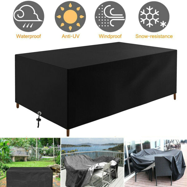 Waterproof Garden Patio Furniture Covers Rectangle Outdoor Table Rain Cover NEW $45.00