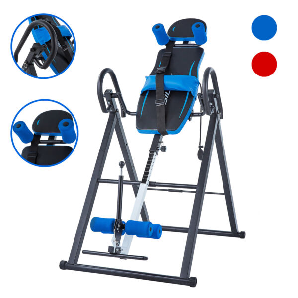 Heavy Duty Inversion Table for Back Therapy Pain Relief Adjustable Stretcher NEW $107.99