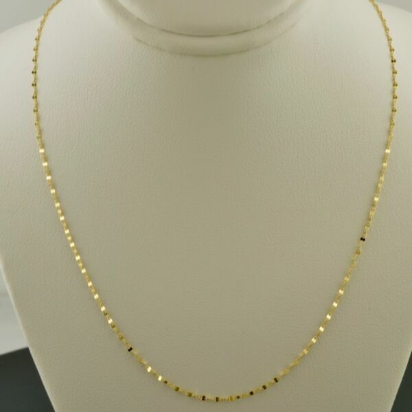 14K YELLOW GOLD 1.3MM POLISHED MARINE LINK 18 INCH NECKLACE