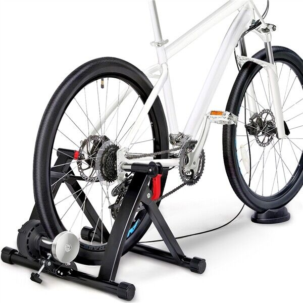 Foldable Indoor Bike Trainer w 6 Speed Level Handlebar Adjuster 265lb Capacity $75.59
