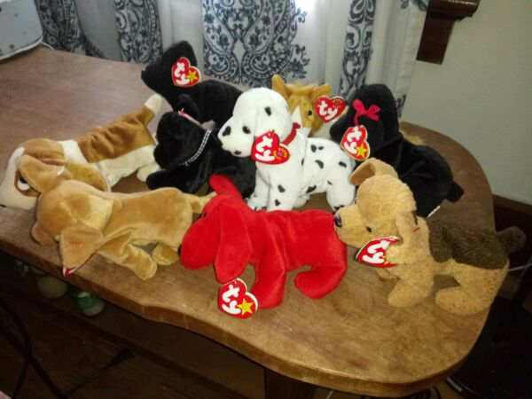 Beanie Babies Collection of 9 Unique Dogs With Tags $20.00