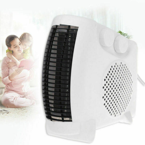 500W Mini Ceramic Electric Heater Home Office Space Heating Portable Fan Silent $18.89