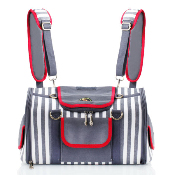 Gray Soft Sided Folding Travel Airline Pet Carrier Purse Tote Cat Dog Bag 35 $69.99