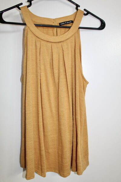 Cable amp; Gage Womens Halter Top Large Mustard $8.00