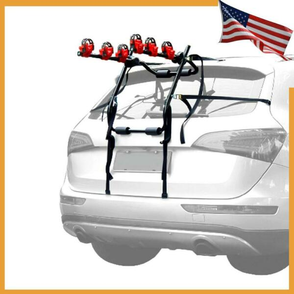 Car SUV Trunk Rear 3 Bike Mounted Rack Hatchback Bicycle Carrier Holder Foldable $48.86
