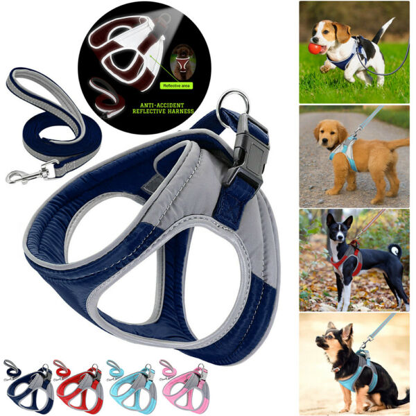 Dog Harnesses For Small Medium Dogs Chihuahua Pug Harness No Pull Adjustable $13.19