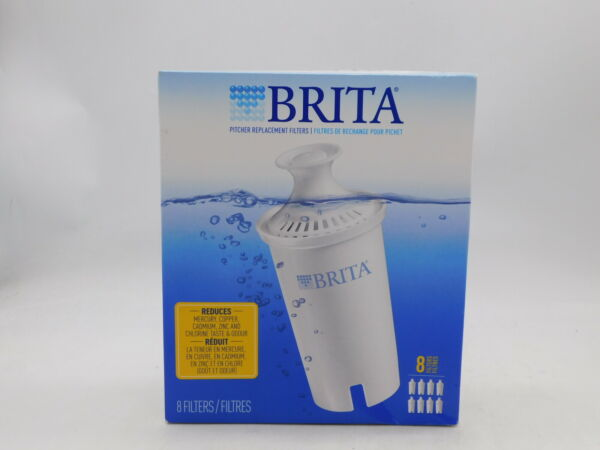 8 Pk Brita Pitcher Replacement Water Filters Fits All Brita Pitchers