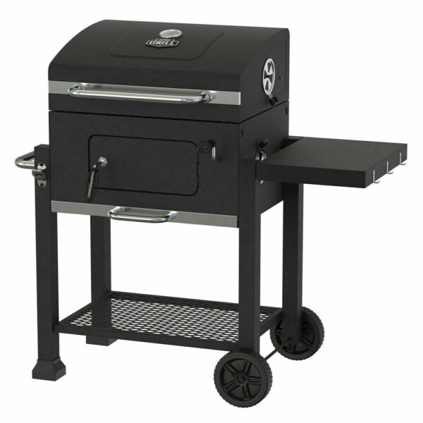 Heavy Duty 24 inch Charcoal Grill Cart BBQ Smoker Large Outdoor Cooking Grilling