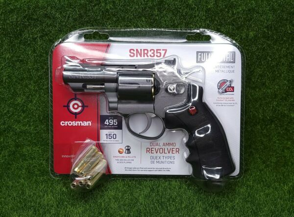 Crosman CO2 Dual Ammo Full Metal Revolver Air Gun Pistol BB amp; Pellet SNR357