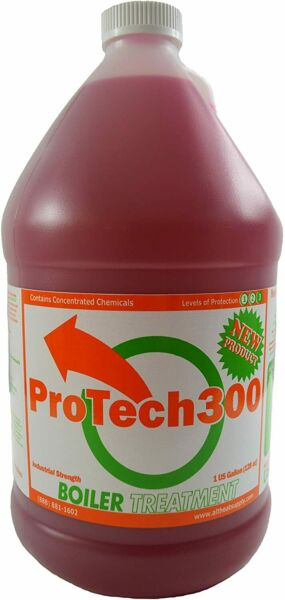 Outdoor Boiler Water Treatment Rust Inhibitor ProTech 300 1 Gallon 128 oz Red $75.89