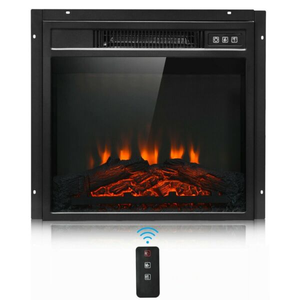 Small Electric Fireplace Recessed insert Wall Mounted Standing Electric Heater $159.94