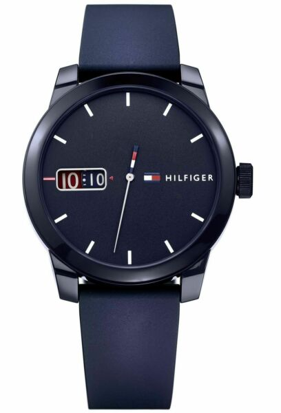 Tommy Hilfiger Blue Silicone Band Navy Dial Watch 1791381 $72.95