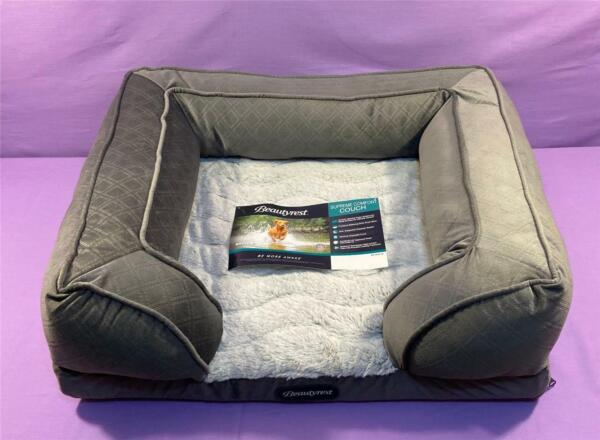 Supreme Comfort Couch Pet Bed By Beautyrest Medium Gray $44.95
