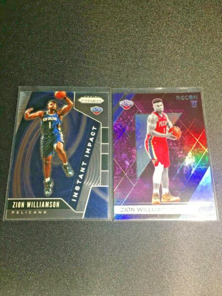 ZION WILLIAMSON Lot 2019 20 Prizm Instant Impact #2 and Chronicles Recon #292 $19.99