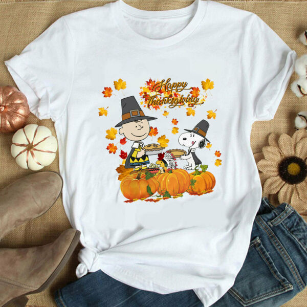 Snoopy Dog and The Peanuts Movie Shirt Thanksgiving Shirt Funny Shirt $13.99