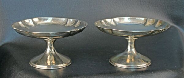 Pair Chicago Hand Wrought Falick Novick Footed Compotes Tazzas
