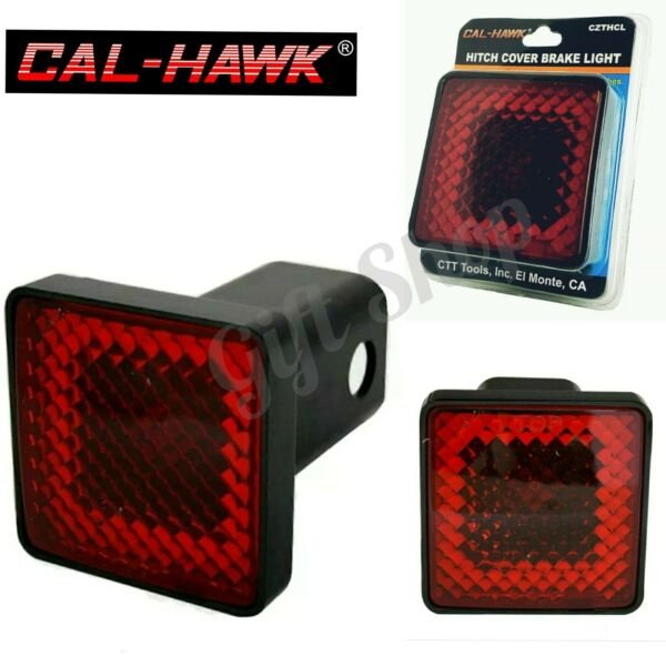 CAL HAWK Universal 2quot; Standard Trailer Receiver Hitch Cover w Red Brake Light $12.95