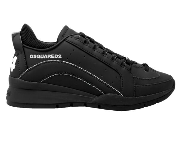 Dsquared2 551 Sneakers Snm0505 M063 Leather Mens Trainers Black Dsquared Shoes $448.88