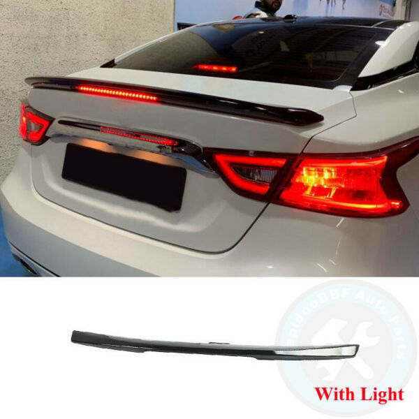 With Light Trunk Lip Spoiler Wing Painted Black Trim Fit For NISSAN Maxima 16 21 $68.99