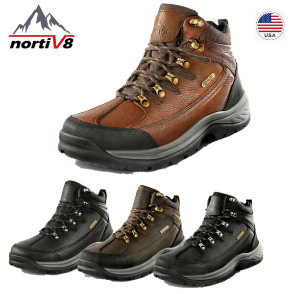 NORTIV 8 Men#x27;s Military Tactical Boots Hiking Combat Army Work Waterproof Shoes