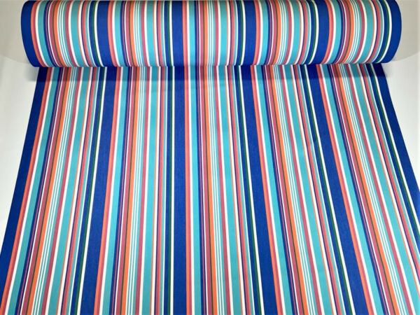 Sunbrella Closeout Multi Color Stripe Outdoor Awning UV Canvas Fabric 46quot;W DWR