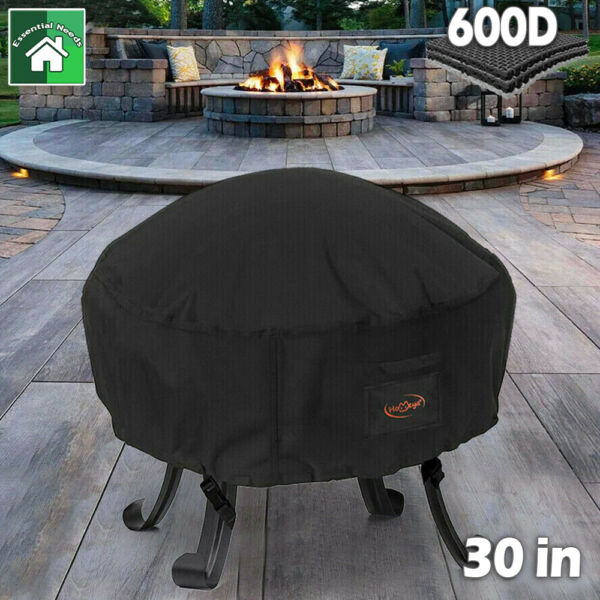 32quot; 600D Oxford Fir Pit Round Patio Bowl Cover Heavy Duty Waterproof Protector $18.95
