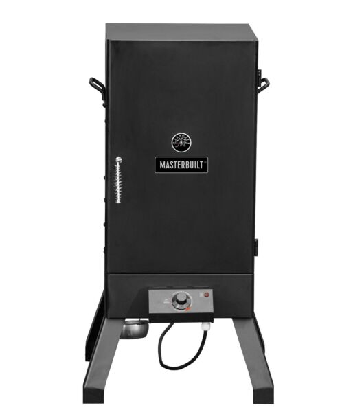 Electric Smoker Outdoor Patio Cooking Grill Analog Smoking Rack Wood Pellet BBQ