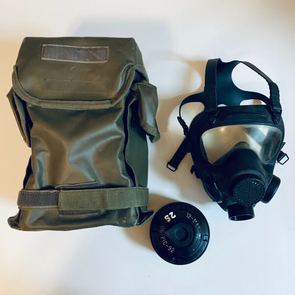 POLISH NATO MP5 NBC GAS MASK 40MM FILTER amp; ARMY STORAGE BAG INCLUDED