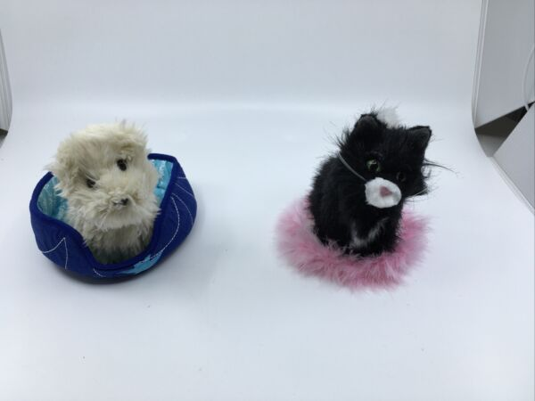 American Girl Dog Coconut And Cat Licorice With Their Beds $16.99