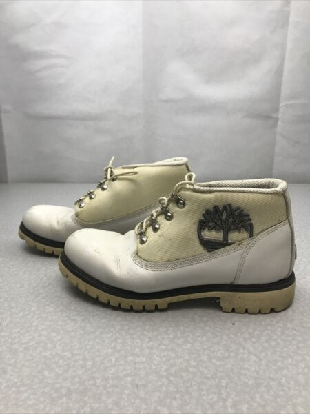 Timberland Work Boots White Mens Size 9M KG RR46 $40.00