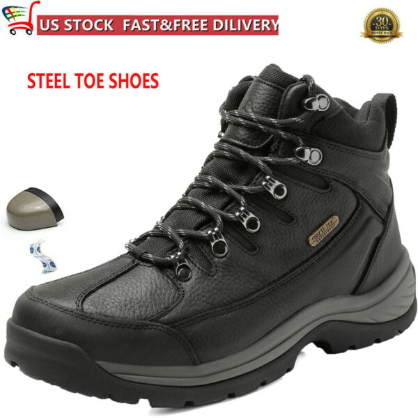 NORTIV 8 Men#x27;s Safety Shoes Steel Toe Work Boots Indestructible Waterproof Boots $50.83