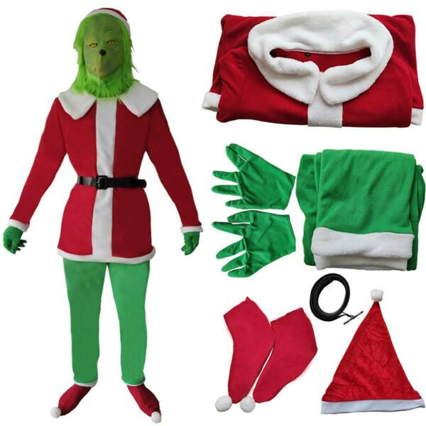 Christmas How The Grinch Stole The Grinch Cosplay Fancy Dress Party Costume US $39.51