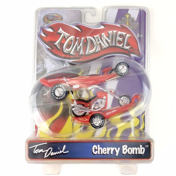 Toy Zone Tom Daniel Cherry Bomb Red Car Trailer amp; Bike Die Cast 1 43 Scale $68.39