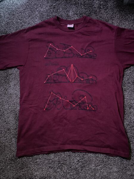 Supreme New York System Tee BURGUNDY Men#x27;s L F W 2018 Pre Owned. $35.00