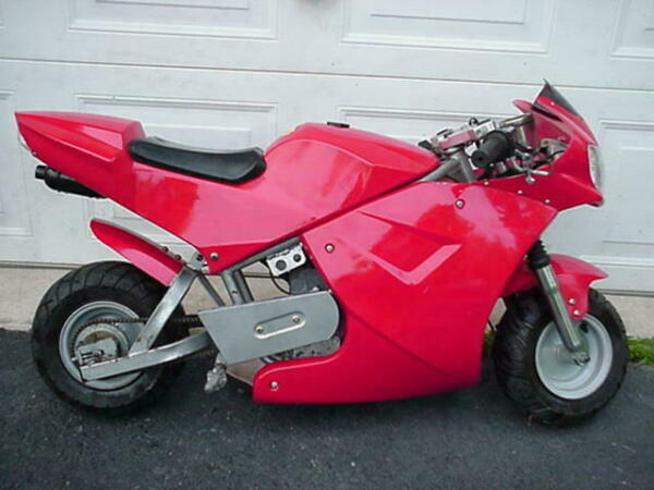 POCKET BIKE MINI BIKE MINI CHOPPER RED STREET BIKE GO KART MOPED SCOOTER X18 $395.00