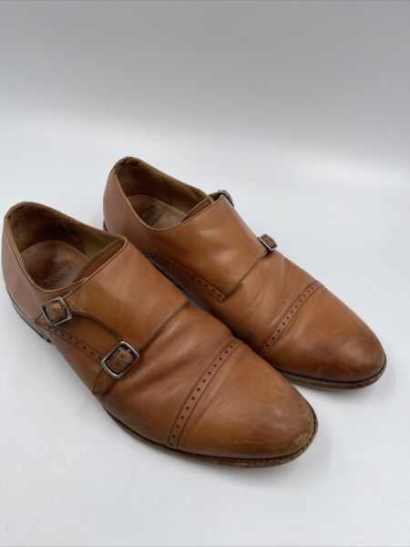 Warfield amp; Grand Double Monk Strap Leather Dress Shoe Reed 70932 Size 9 $49.00