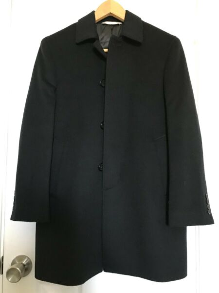 NORDSTROM navy top car insulated dressy wool coat boy 12 excellent $49.99