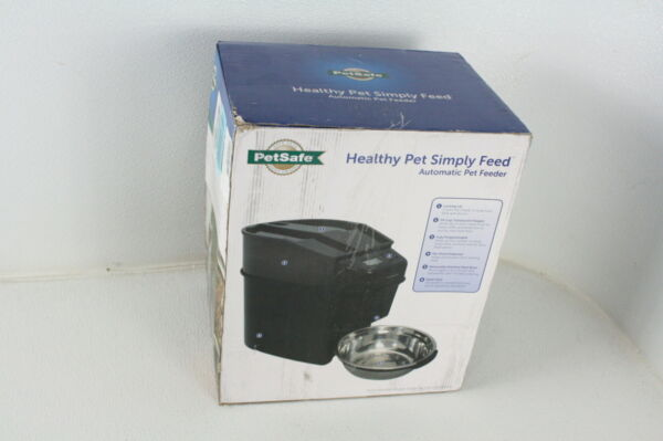PetSafe Healthy Pet Simply Feed Automatic Dog Cat Feeder Slow Feed Setting Black $68.27