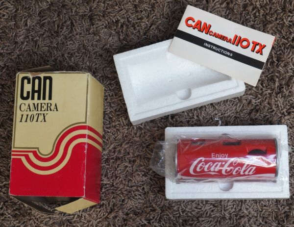 NEW NIB Vintage Coca Cola CAN CAMERA Model 110TX with Instructions