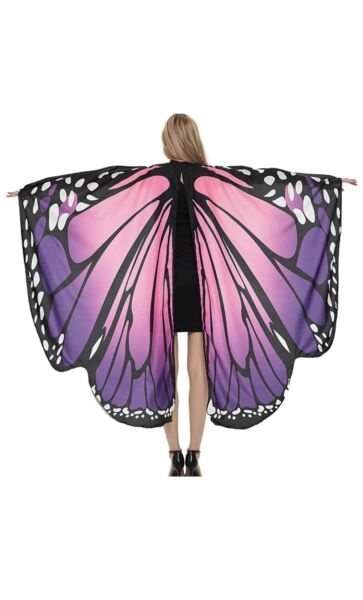 Adult Halloween Costumes for Women Butterfly Wings Girl Purple Butterfly $11.99
