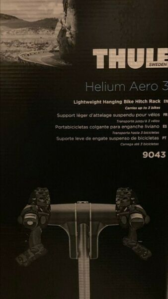THULE HELIUM AERO 3 MODEL 9043 3 BIKE HITCH RACK $315.00