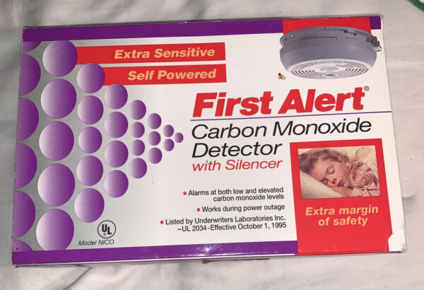 NICO First Alert Carbon Monoxide Detector with Silencer $14.99
