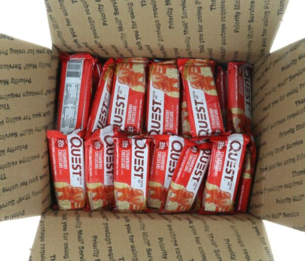 60 Bars Quest Nutrition Protein Bar STRAWBERRY CHEESECAKE