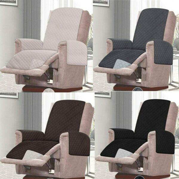 Reversible Recliner Chair Sofa Cover Furniture Protector Double Diamond Quilted $22.41