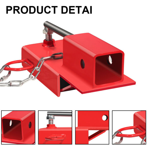 Clamp On Forklift Receiver Hitch Attachment w Chain Trailer Towing Adapter 2quot; $44.27