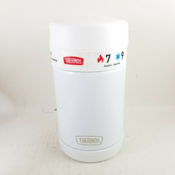 Thermos Funtainer 16oz. Stainless Food Jar Container White... New