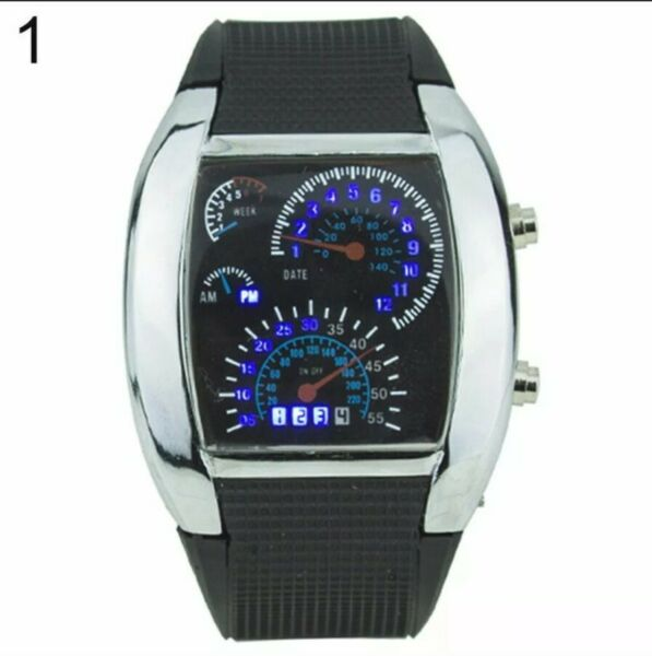 Speedometer Car Style Digital Unisex Watch Rubber Band USA Seller $18.99