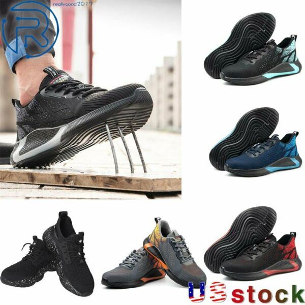 Men#x27;s Safety Work Shoes Steel Toe Indestructible Boots Lightweight Sneakers $28.79