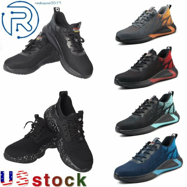 Men#x27;s Safety Work Shoes Steel Toe Bulletproof Boots Indestructible Sneakers Size $30.92