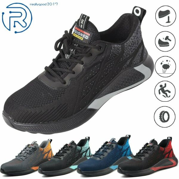Indestructible Safety Work Shoes Steel Toe Breathable Work Boots Mens#x27; Sneakers $29.77